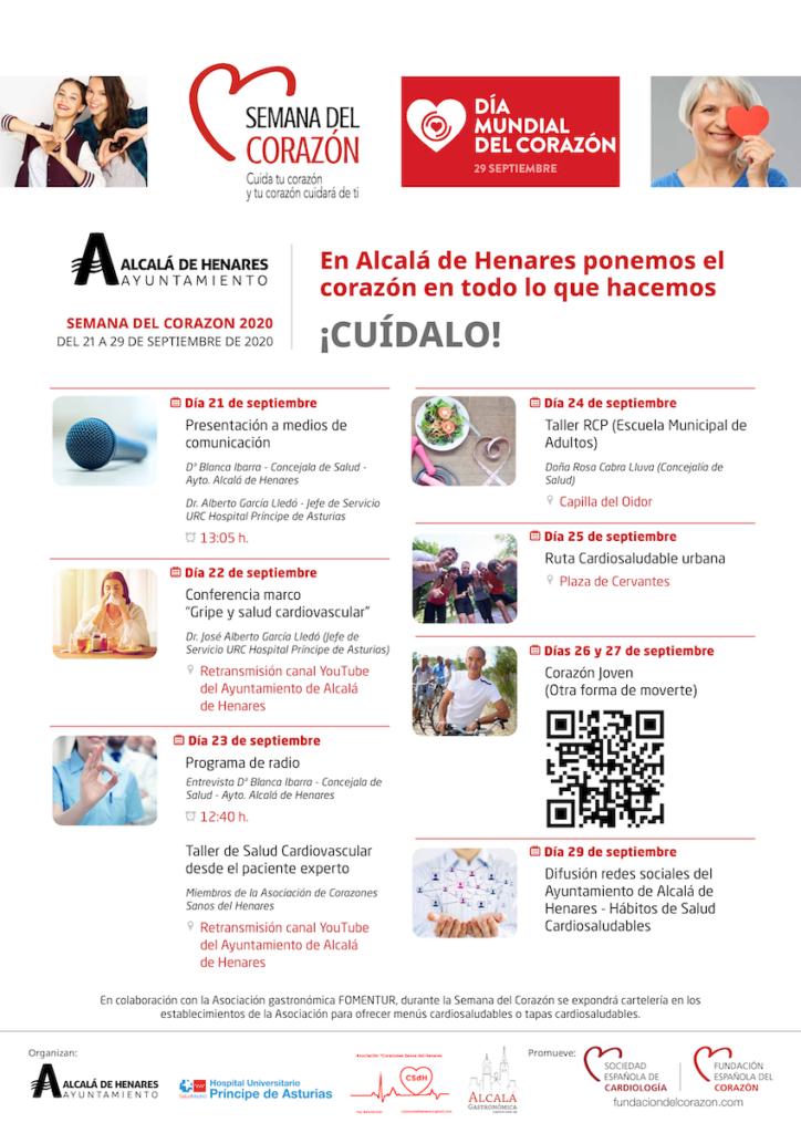 Programa Semana del Corazón 2020 Alcalá de Henares