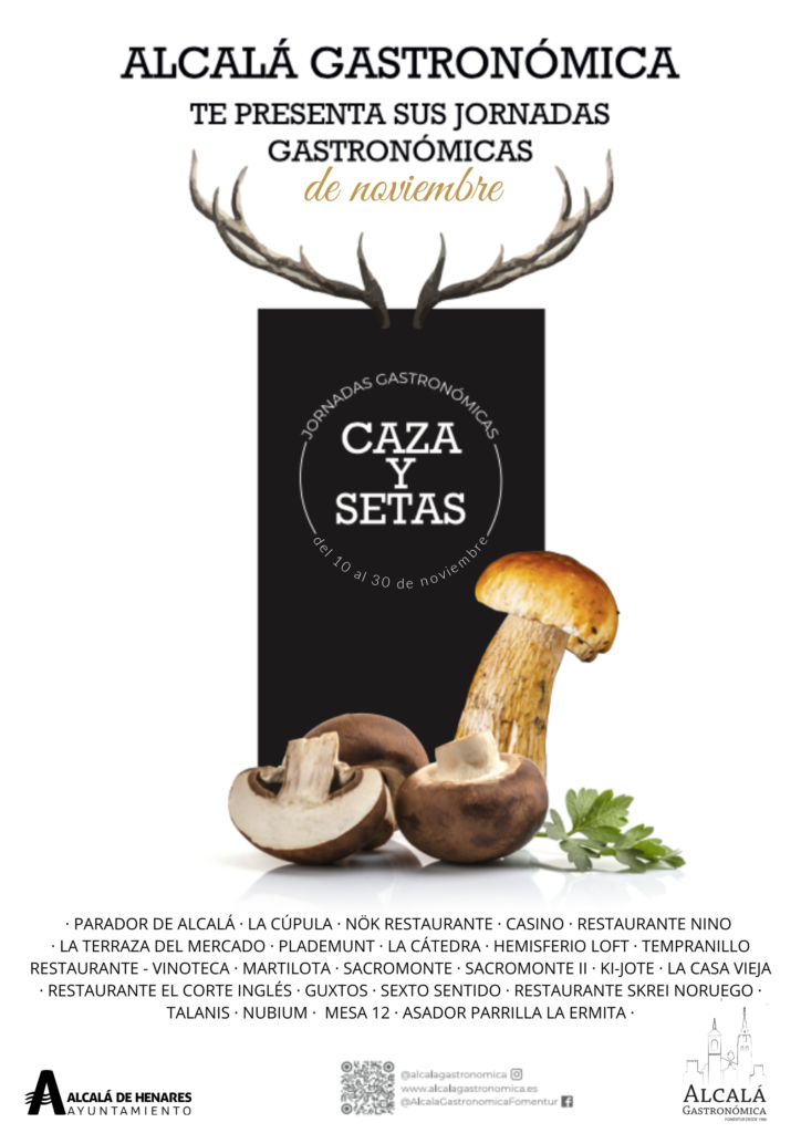 Jornadas Caza y setas Alcalá Gastronómica