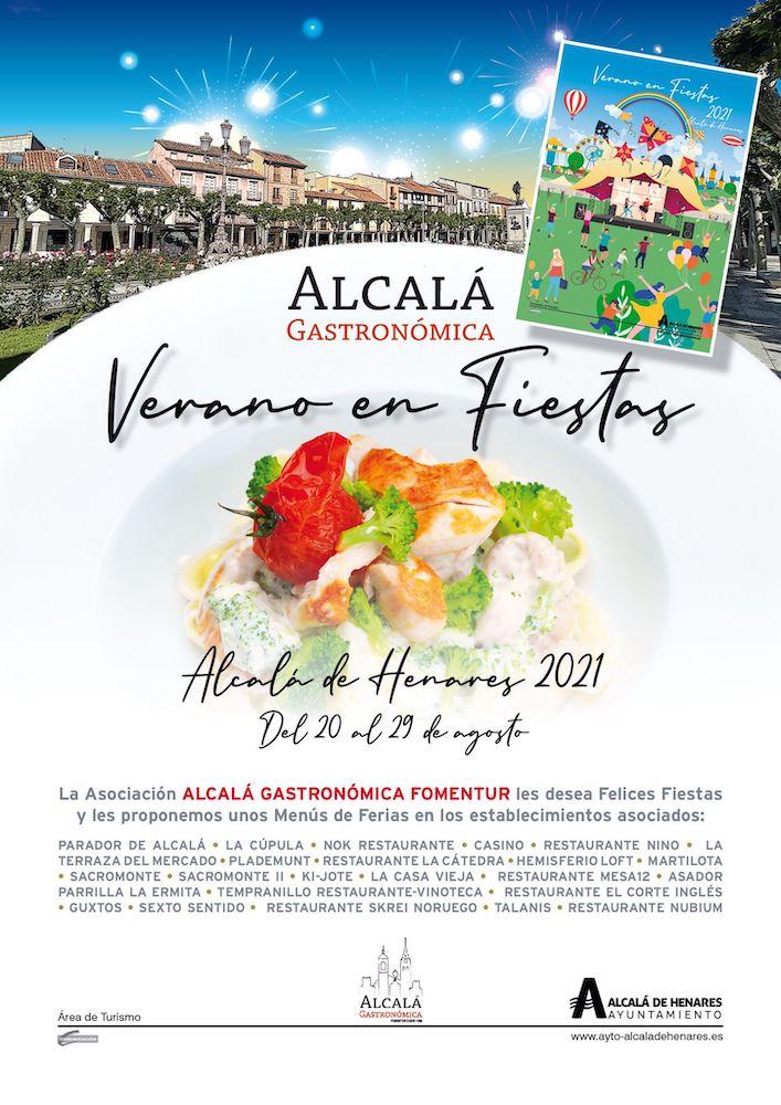 Cartel de los Menús de Ferias de Alcalá Gastronómica